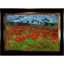 Field of Poppies by Vincent Van Gogh Framed Painting