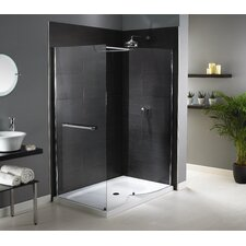 Shine Walk-In Enclosure in Polished Silver