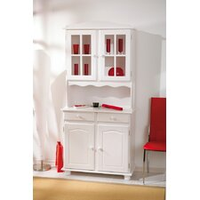Solid Pine Display Cabinet Kitchen Pantry