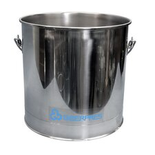 Stainless Steel 8 Gallon Round Mop Bucket without Casters
