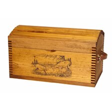 Fighting Bucks Print Small Camel Back Trunk with Leather Handles