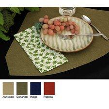 Denim Table Linens Reversible Wedge Placemat (Set of 2)