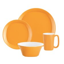 Round & Square 4 Piece Place Setting Set, Service for 1