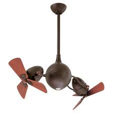 "38"" Acqua Dual 6 Wooden Blade Rotational Ceiling Fan"