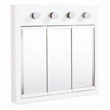 "Savanna 30"" x 30"" Surface Mount Medicine Cabinet with Lighting"