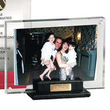 Florentine Napa Leather and Acrylic Picture Frame