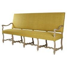 Veronike Silk Fabric Bench by Zentique Inc.