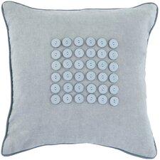 Bold Button 100% Cotton Throw Pillow