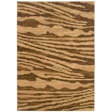 Opulence Woodgrain Inspired Cream/Light Brown Area Rug