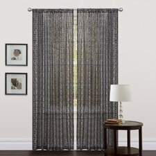 Leopard Animal Print Semi-Opaque Rod Pocket Single Curtain Panel