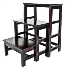 3-Step Wood Retractable Step Stool with 200 lb. Load Capacity