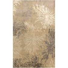 Avant Garde Hand-Knotted Wool Beige Area Rug