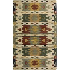 Southwest Hand-Tufted Wool Beige Area Rug