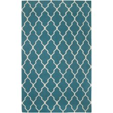Swing Hand-Woven Wool Green Area Rug