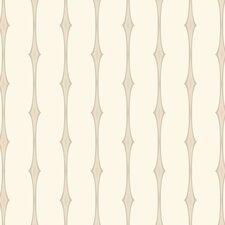"Candice Olson II 27' x 27"" Stripes Foiled Wallpaper"