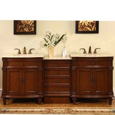 Sophia 80 Double Bathroom Vanity Set by Silkroad Exclusive
