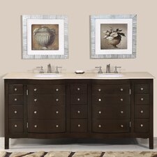 Prima 72 Double Bathroom Vanity Set by Silkroad Exclusive