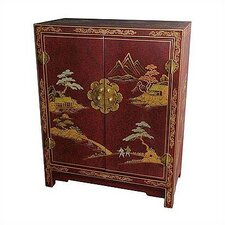 Japanese Crackle Lacquer Cabinet by Oriental Furniture
