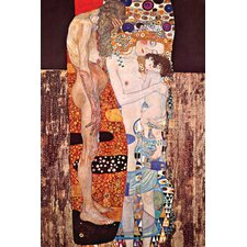 Three Ages of a Woman by Gustav Klimt Painting Print on Wrapped Canvas