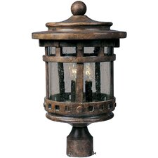 Santa Barbara Cast Outdoor 3-Light Lantern Head
