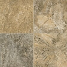 """Alterna Reserve 16"""" x 16"""" Engineered Stone Field Tile in Cameo Brown/Gray"""