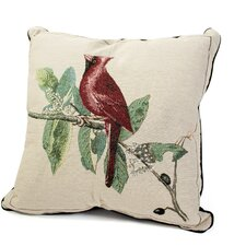 Bird Watchers Cardinal Cotton Throw Pillow