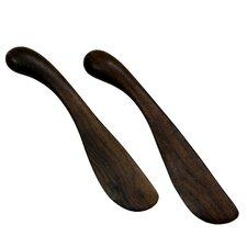 Peten Wood Artisan Sculptors Artisan Spreader (Set of 2)