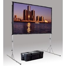 """Fast Fold Deluxe 54"""" H x 54"""" W Portable Projection Screen"""