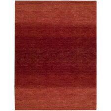 Linear Glow Hand-Woven Watercolor Sumac Area Rug