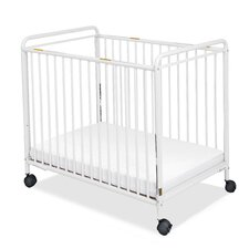 Chelsea Clearview Compact Steel Non-Folding Convertible Crib with Mattress by Foundations