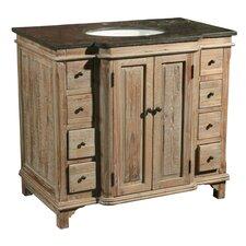 36 Single Reclaimed Pine Bathroom Vanity Set by Furniture Classics LTD