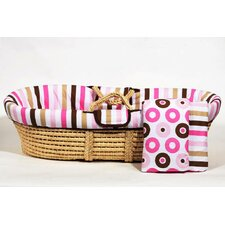 Mod Dots and Stripes Moses Basket