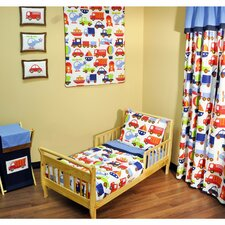 Transportation 4 Piece Toddler Bedding Set