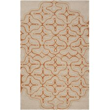 Labrinth Hand-Hooked Olive/Red Indoor/Outdoor Area Rug