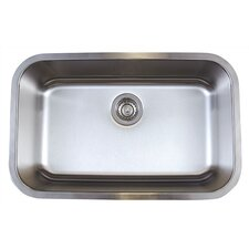 "Stellar 28"" x 18"" Super Single Bowl Undermount Kitchen Sink"
