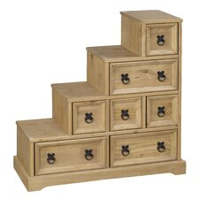 Rustic Corona Multimedia Chest with Library Style Drawers
