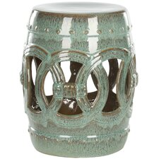 Holbrook Ceramic Double Coin Stool by World Menagerie