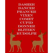 Reindeers by Secretly Spoiled Graphic Art
