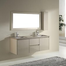 Barros 63 Double Bathroom Vanity Set with Mirror by Bauhaus Bath
