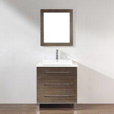 Kinsa 28 Single Bathroom Vanity Set with Mirror by Bauhaus Bath