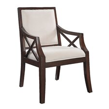Fabric Arm Chair in Brown Cherry by Coast to Coast Imports LLC