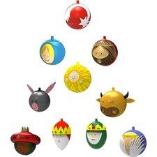 10 Piece Baldassarre Christmas Ornament Set