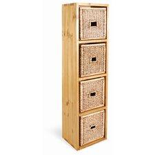 Vintage Pine Wooden Quad Box