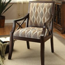 Fabric Arm Chair in Espresso by Coast to Coast Imports LLC