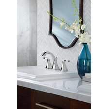 Voss Double Handle Widespread Standard Bathroom Faucet with Drain Assembly