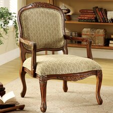 Atlantic Hand-Carved Fabric Armchair