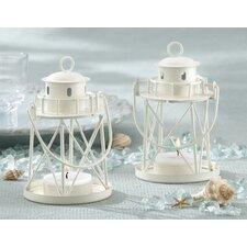 By the Sea Lighthouse Metal Tealight Holder Lantern (Set of 8)