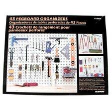 43 Piece Pegboard Kit