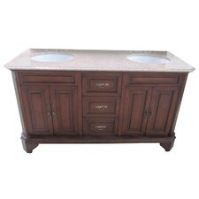 Traditional 60 Double Bathroom Vanity Set by Yosemite Home Decor