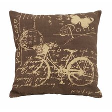 Paris Bicycle Theme Pillow